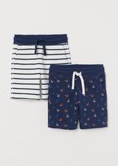 H&M H & M - 2-pack Sweatshorts - Blue