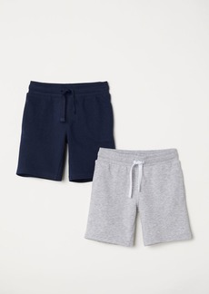 H&M H & M - 2-pack Sweatshorts - Gray