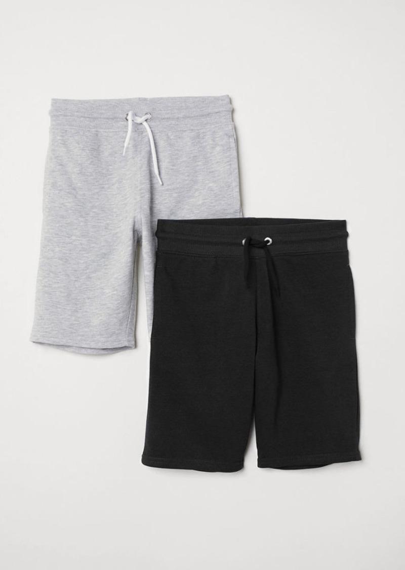 H&M H & M - 2-pack Sweatshorts - Gray