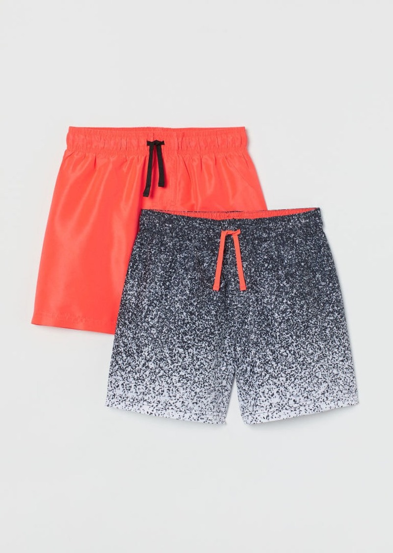 H&M H & M - 2-pack Swim Shorts - Black