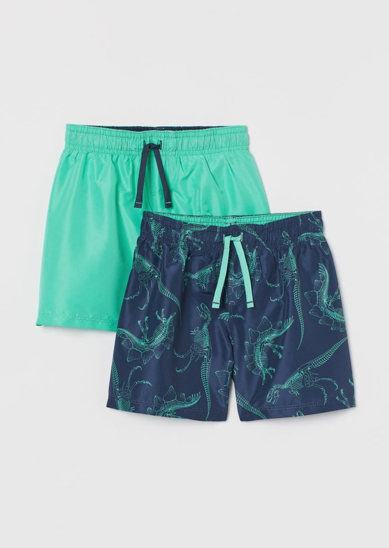 H&M H & M - 2-pack Swim Shorts - Blue