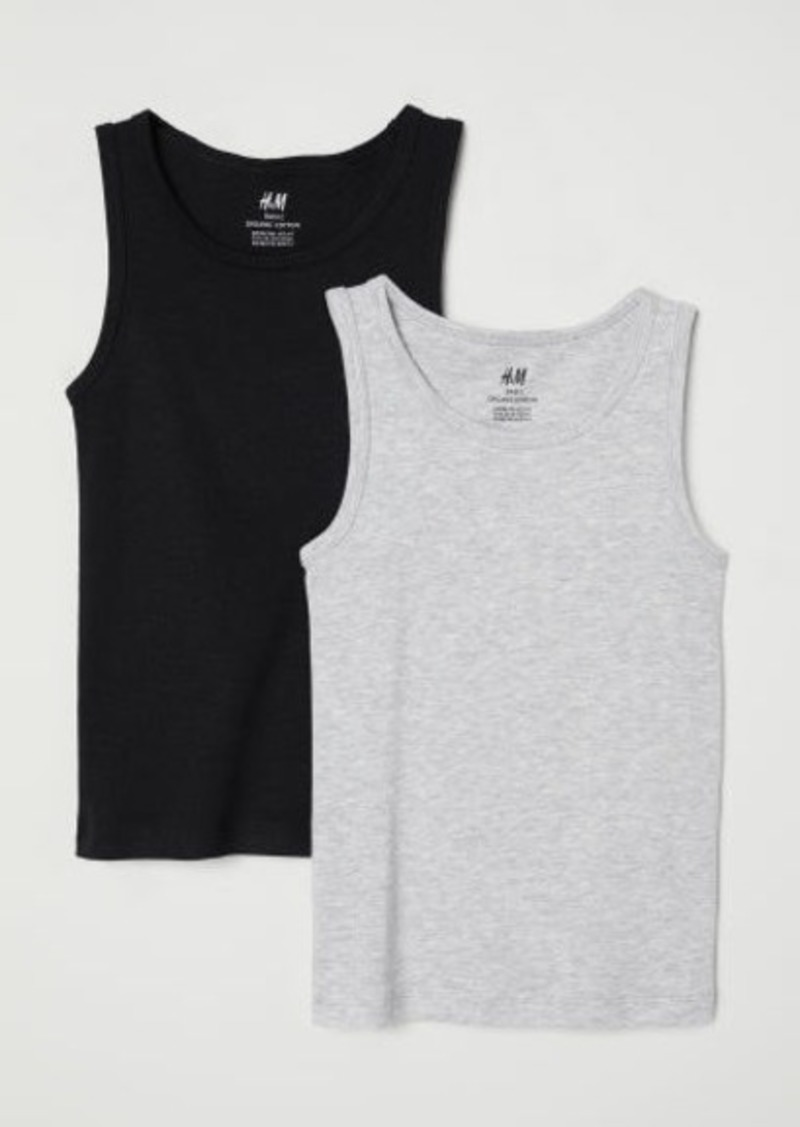 H&M H & M - 2-pack Tank Tops - Black