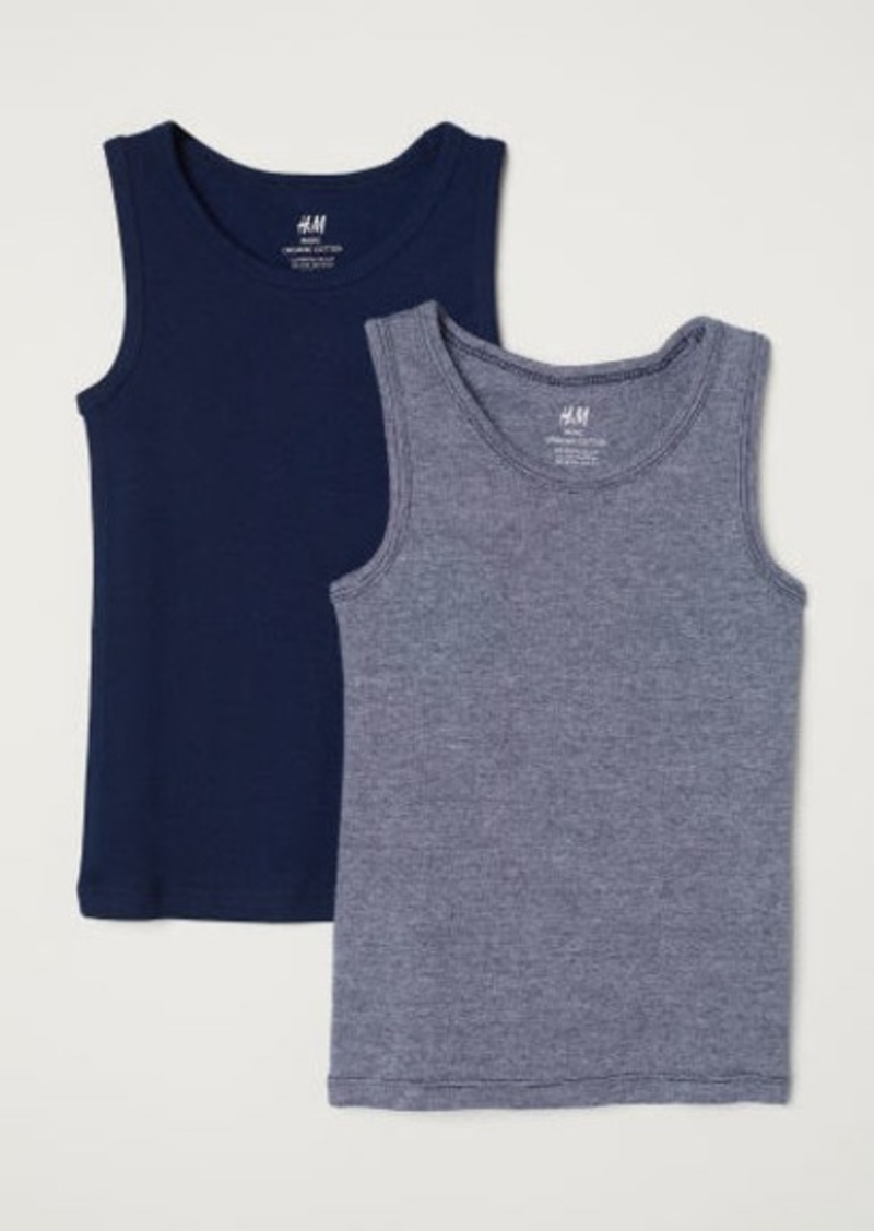 H&M H & M - 2-pack Tank Tops - Blue