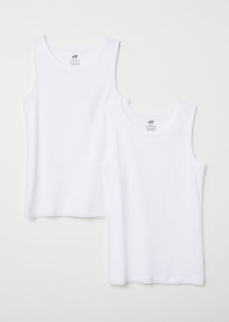 H&M H & M - 2-pack Tank Tops - White