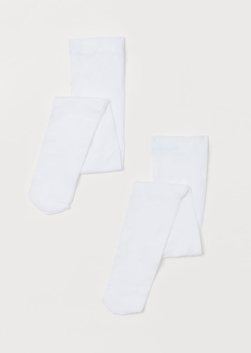 H&M H & M - 2-pack Tights - White