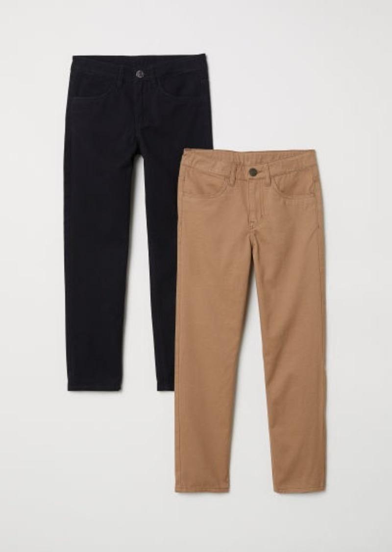 H&M H & M - 2-pack Twill Pants - Black