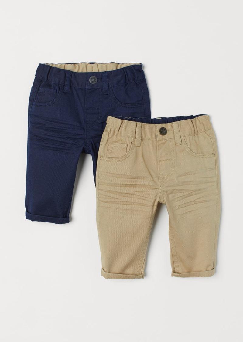 H&M H & M - 2-pack Twill Pants - Blue