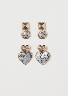 H&M H & M - 2 Pairs Earrings - Gold