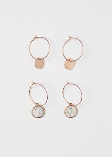 H&M H & M - 2 Pairs Earrings - Orange
