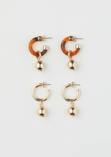 H&M H & M - 2 Pairs Hoop Earrings - Gold