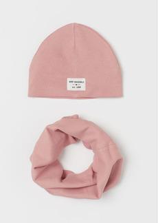 H&M H & M - 2-piece Jersey Set - Pink