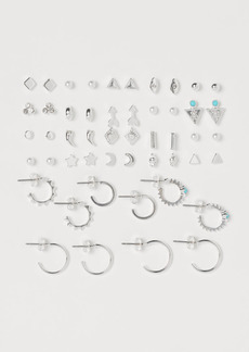 H&M H & M - 25 Pairs Earrings - Silver