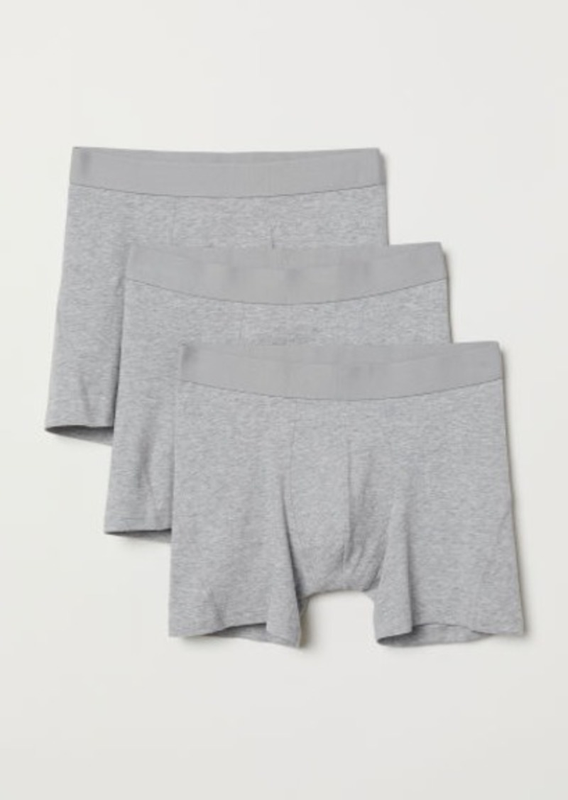 H&M H & M - 3-pack Boxer Shorts - Gray