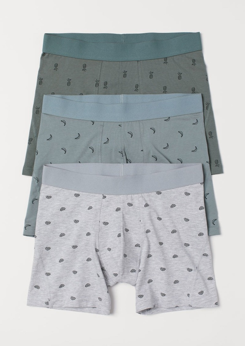 H&M H & M - 3-pack Boxer Shorts - Green