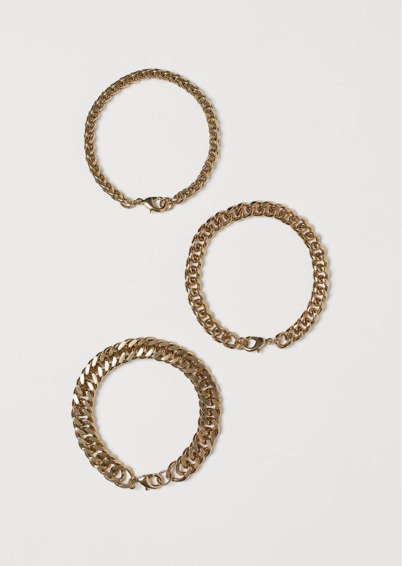 H&M H & M - 3-pack Bracelets - Gold