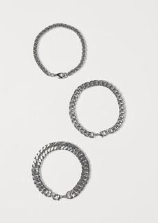 H&M H & M - 3-pack Bracelets - Silver
