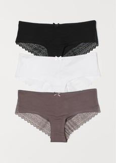 H&M H & M - 3-pack Cotton Hipster Briefs - Black