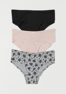 H&M H & M - 3-pack Cotton Hipster Briefs - Gray