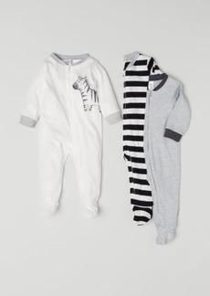 H&M H & M - 3-pack Cotton Jumpsuits - White