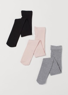 H&M H & M - 3-pack Fine-knit Tights - Pink