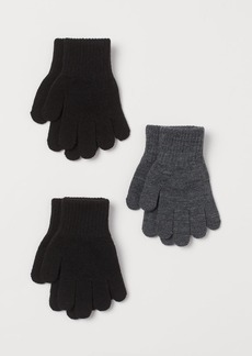 H&M H & M - 3-pack Gloves - Black