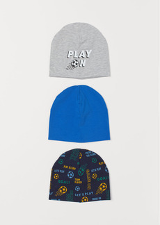 H&M H & M - 3-pack Jersey Hats - Gray