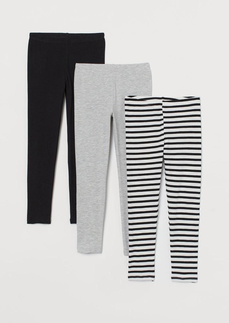 H&M H & M - 3-pack Jersey Leggings - Black