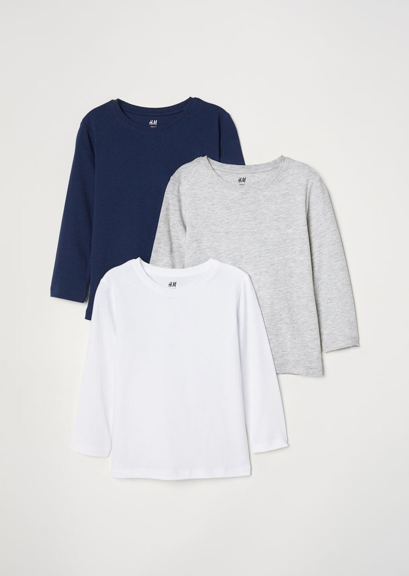 H&M H & M - 3-pack Jersey Shirts - Blue