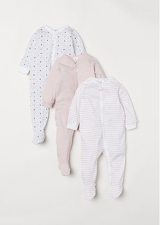 H&M H & M - 3-pack Jumpsuits - Pink