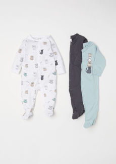 H&M H & M - 3-pack Jumpsuits - Turquoise