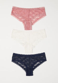 H&M H & M - 3-pack Lace Briefs - Pink
