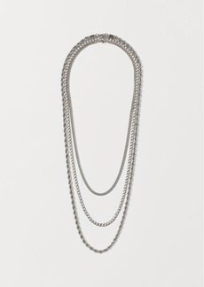 H&M H & M - 3-pack Necklaces - Silver