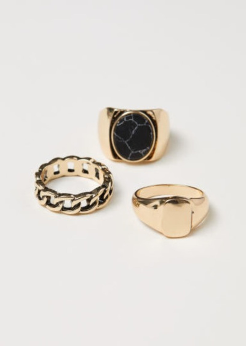H&M H & M - 3-pack Rings - Gold