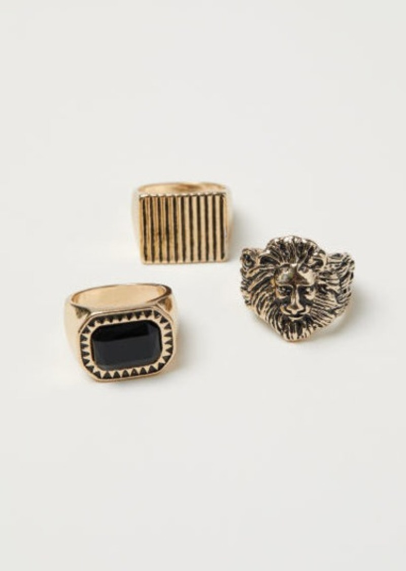 H & M - 3-pack Rings - Gold