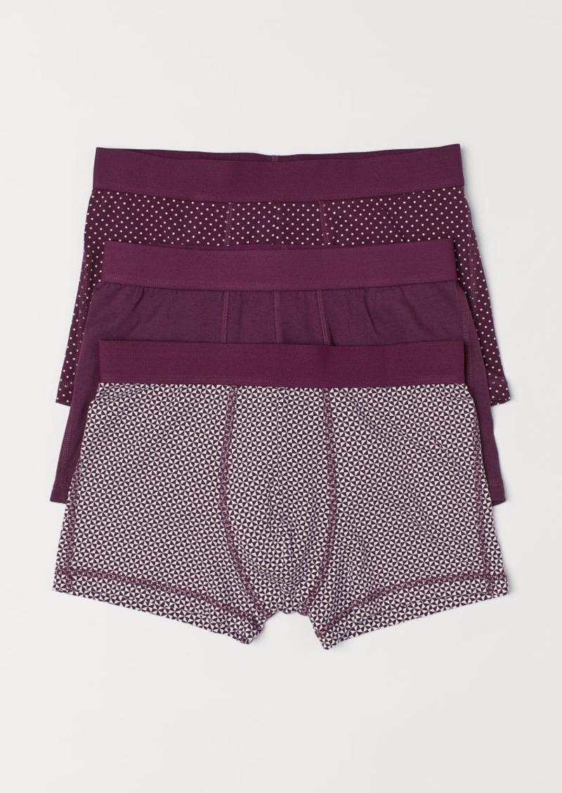 H&M H & M - 3-pack Short Boxer Shorts - Purple