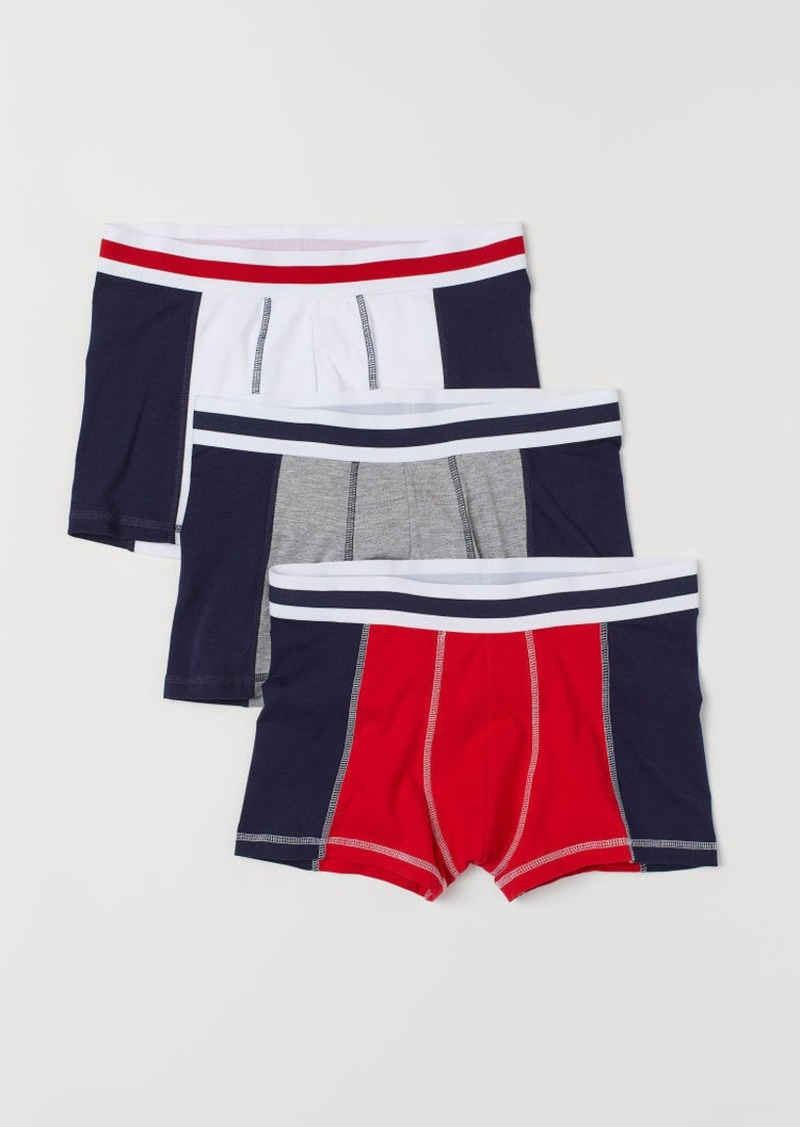 H&M H & M - 3-pack Short Boxer Shorts - Red