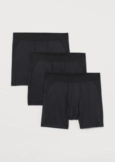 H&M H & M - 3-pack Sports Boxer Shorts - Black