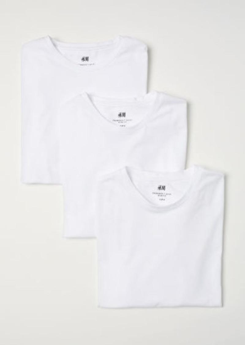 H&M H & M - 3-pack Slim Fit T-shirts - White