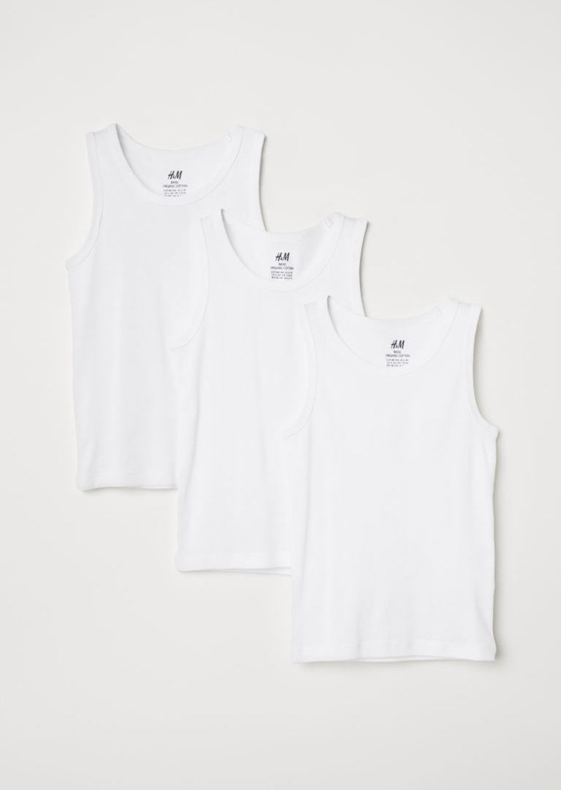 H&M H & M - 3-pack Tank Tops - White