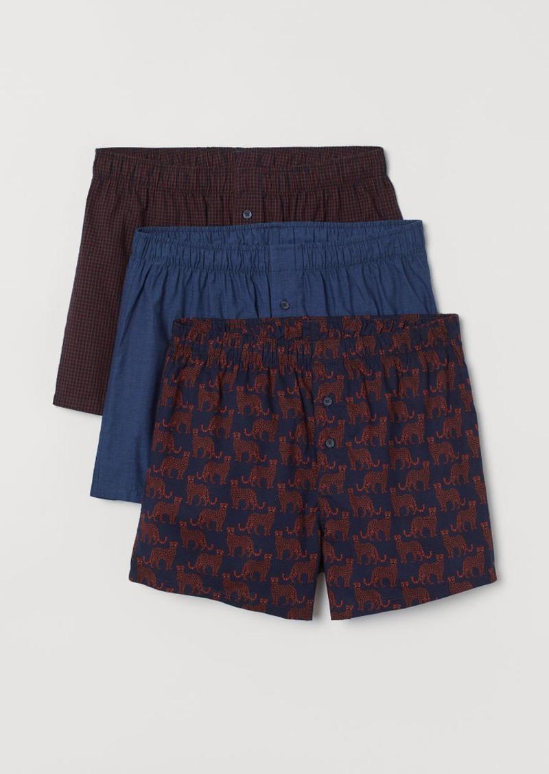 H&M H & M - 3-pack Woven Boxer Shorts - Orange