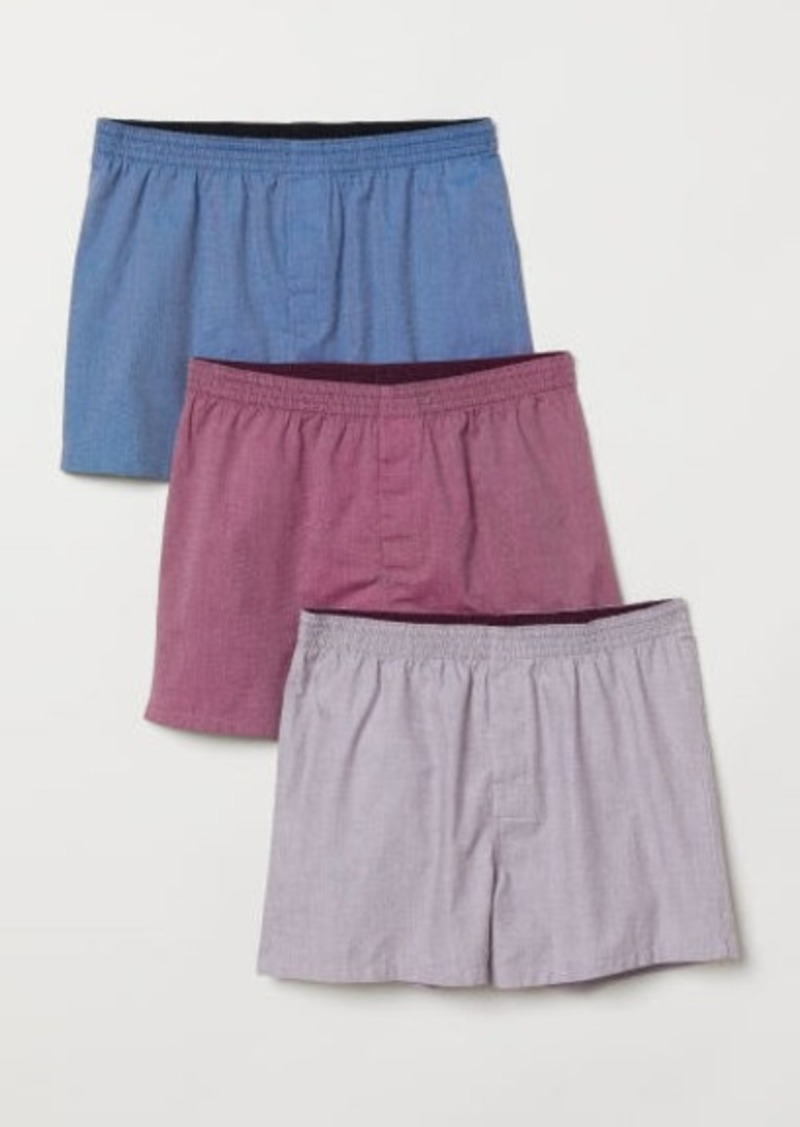 H&M H & M - 3-pack Woven Boxer Shorts - Pink