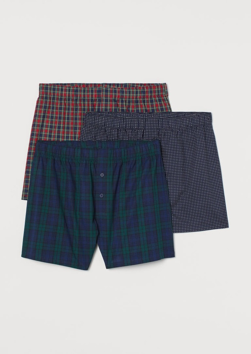 H&M H & M - 3-pack Woven Boxer Shorts - Red