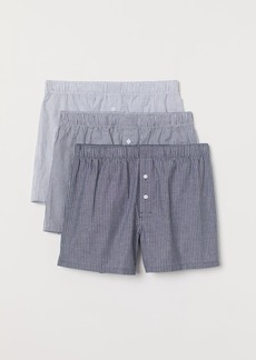 H&M H & M - 3-pack Woven Boxer Shorts - White