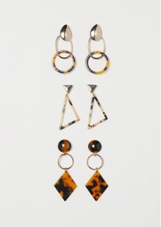 H&M H & M - 3 Pairs Earrings - Gold