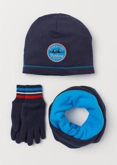 H&M H & M - 3-piece Fleece Set - Blue