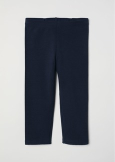 H&M H & M - 3/4-length Leggings - Blue