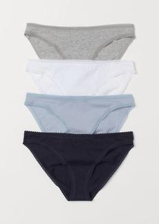 H&M H & M - 4-pack Cotton Bikini Briefs - Blue