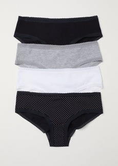 H&M H & M - 4-pack Cotton Hipster Briefs - Black
