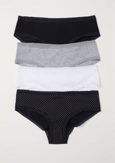 H&M H & M - 4-pack Cotton Hipster Briefs - Black