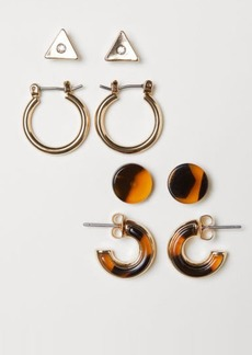 H&M H & M - 4 Pairs Earrings - Gold